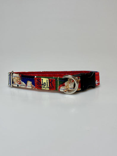 ".75"" Wide, 10-16"" long, plastic buckle, Classic Coca Cola Christmas Themed"