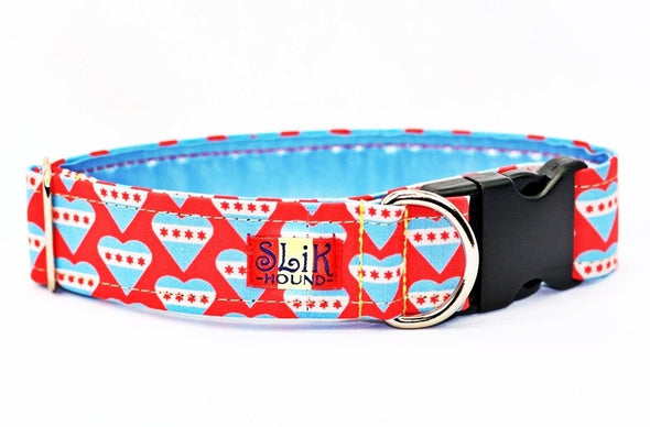 chicago flag dog collar