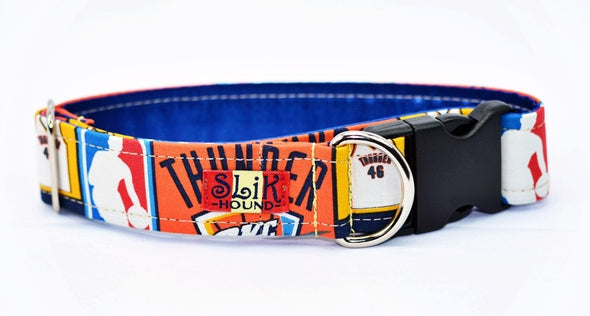 Oklahoma City Thunder Themed Pop Pop Fashion Dog Collar - SLiK Hound Dog Collar - Dog Collar [shop-name] - SLiK Hound Dog Collar - quality dog collar [product-type] - best dog collar Dog Collar - long lasting dog collar