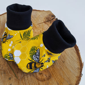 Honey Bee baby booties