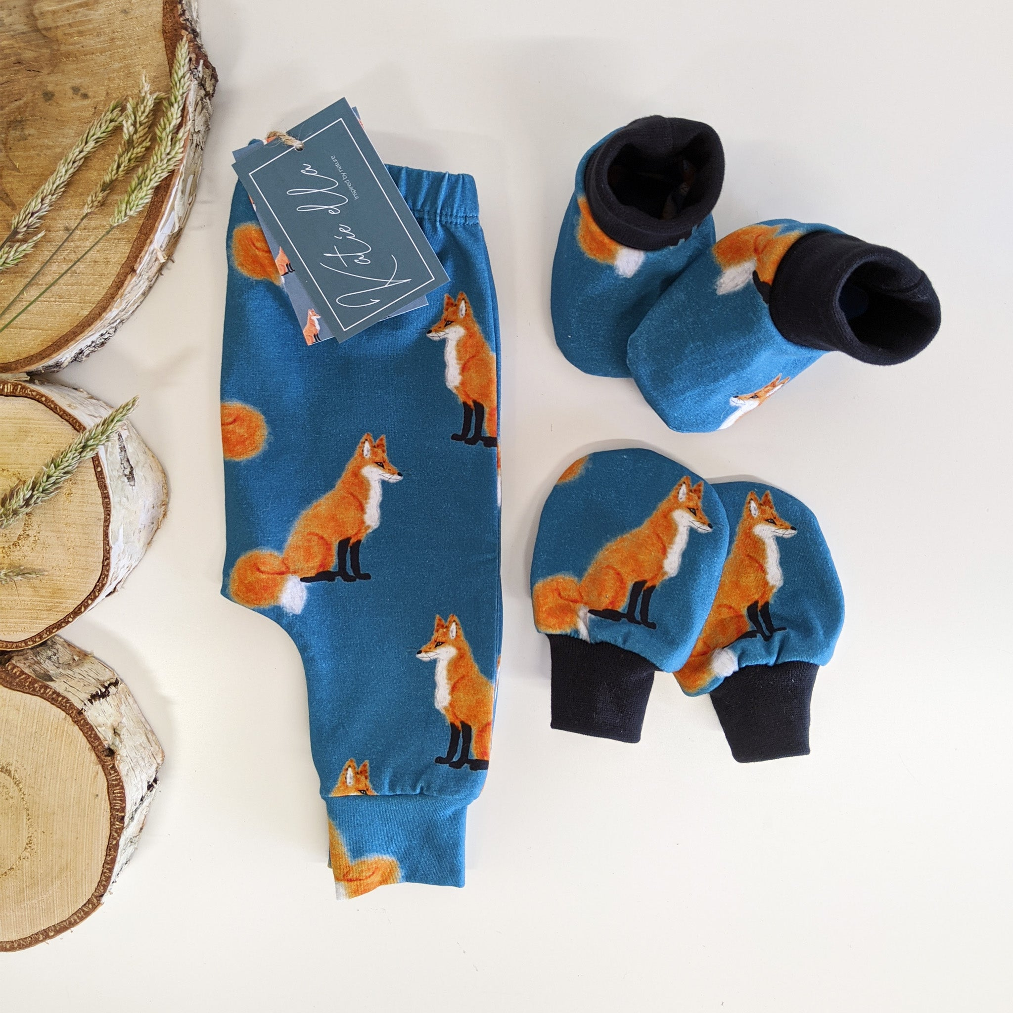 Red Fox Baby Scratch Mittens
