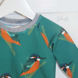 PI 6-9m Kingfisher Raglan Top- 04