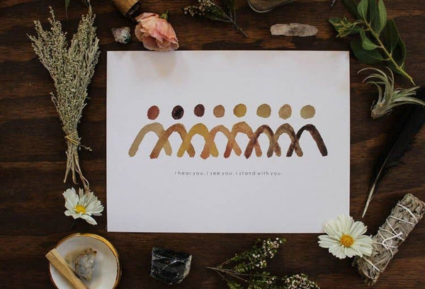 9'' x 12'' Standing Together Art Print