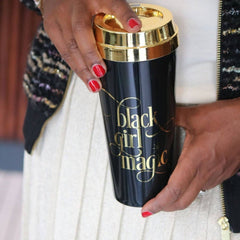 Black Girl Magic - Gold Lid Travel Mug