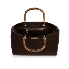 AVERY BAMBOO BAG | DARK BROWN