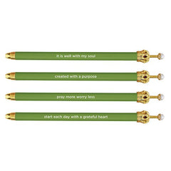 Cabana Crown Pen - Greenery