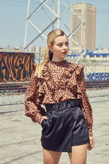 DO+BE LEOPARD PRINT TOP