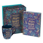Desire of Your Heart Mug and Journal Boxed Gift Set for Women - Psalm 20:4