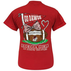 Girlie Girl Original-GEORGIA TREASURE CARDINAL RED SHORT SLEEVE