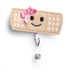 Girl Bandaid Badge Reel