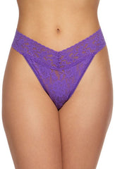 Hanky Panky Lace Low Rise Thong- Vibrant Purple
