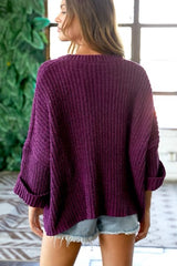 Cozy Plum Sweater