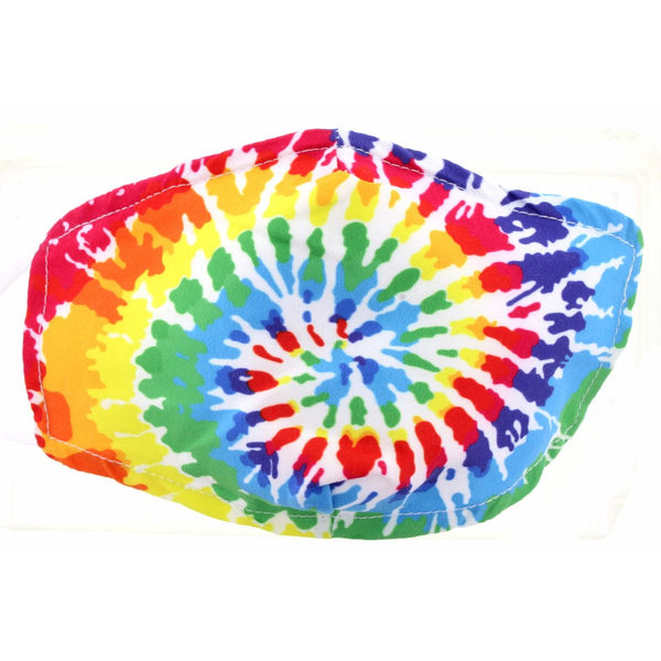 KIDS TIE DYE FACE MASK, ADJUSTABLE ELASTIC EAR STRAPS