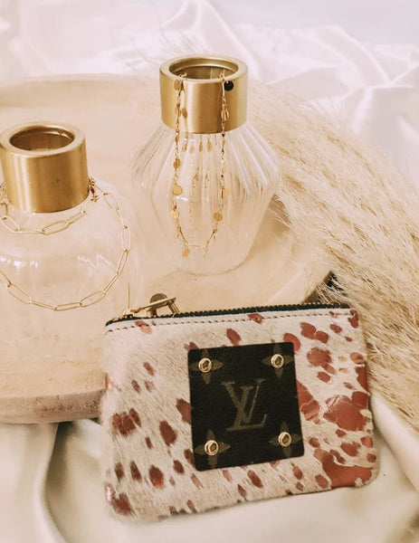 Louis Vuitton Repurposed Rose Gold Wristlet