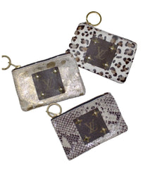 Louis Vuitton Repurposed Leopard Coin Purse & Key Ring