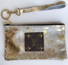 Louis Vuitton Repurposed Gold  Wristlet