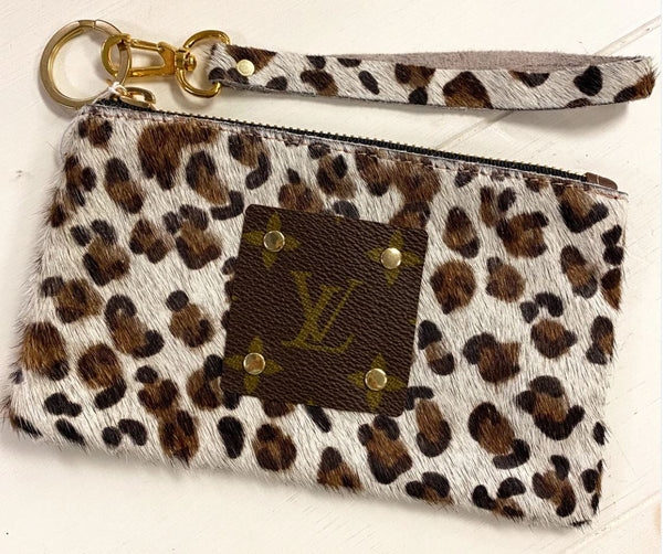 Louis Vuitton Repurposed Leopard Wristlet