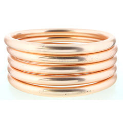 MATTE 5 ROSE GOLD BANGLE BRACELETS