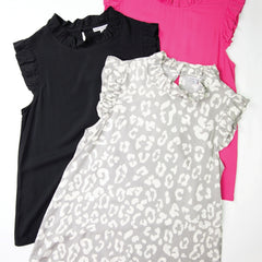 MICHELLE TOP-  BLACK or PINK