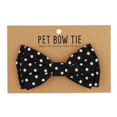 Pet Bow Ties-Black Polka Dot