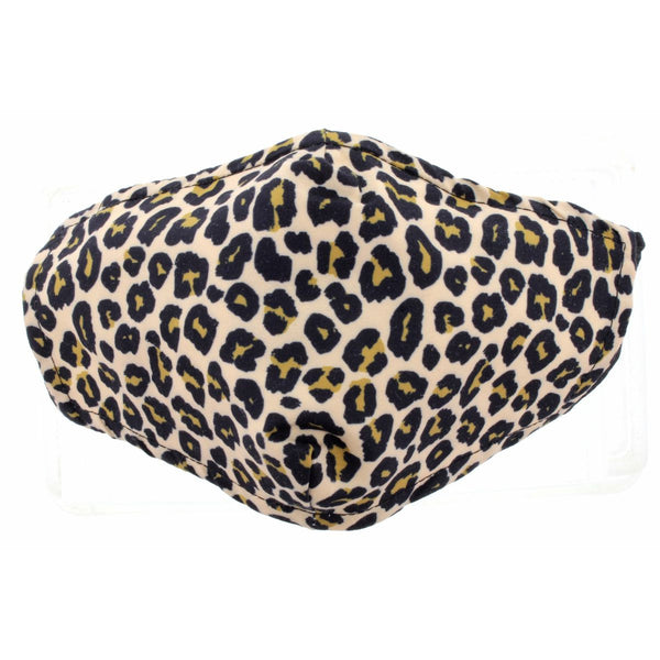 SMALL PRINT LEOPARD FACE MASK, ADJUSTABLE ELASTIC EAR STRAPS