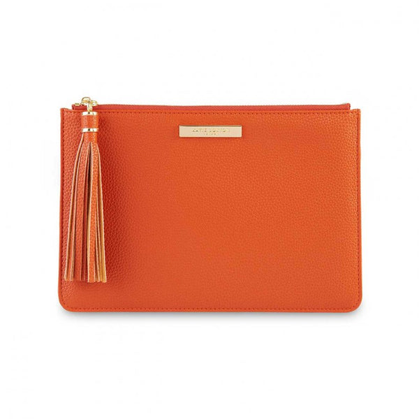 SOPHIA TASSEL POUCH | BURNT ORANGE