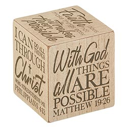 Well Said! - Quote Cubes - Inspirational - With God