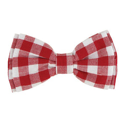 Pet Bow Ties-Red Buffalo Check