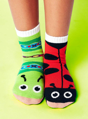 Ladybug & Caterpillar | Kids Socks | Mismatched Crazy Socks