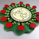 """Peace & Joy"" Flower Embellishment"