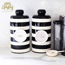 Black Stripe Mini Canister