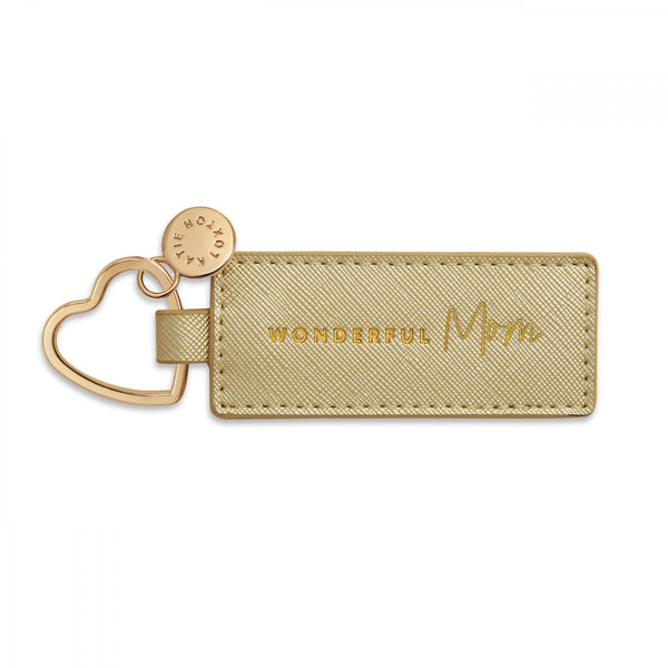 SENTIMENT HEART KEYRING | WONDERFUL MOM | GOLD