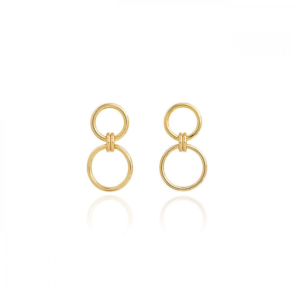 STATEMENT STUDS LINKED HOOP EARRINGS