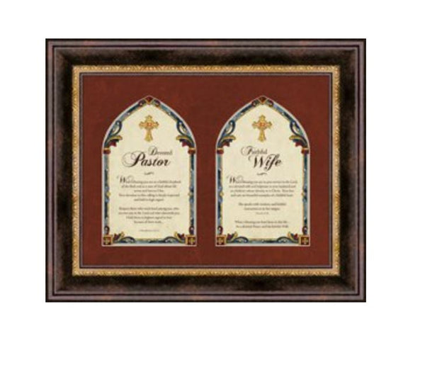 "Pastor and Pastor's Wife- 17"" x 14"" Framed Wall Art"