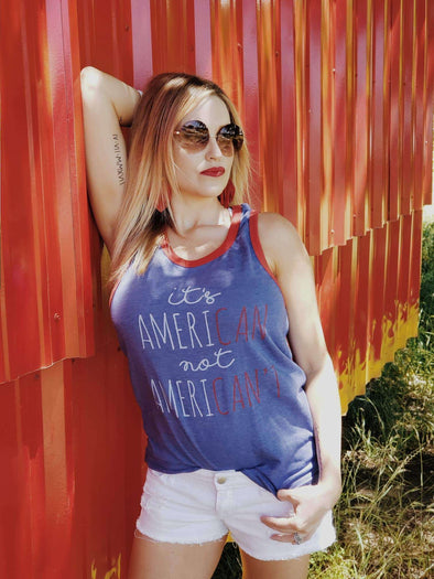It's American Not Ameri-Can't | Seasonal Tank | Ruby's Rubbish®