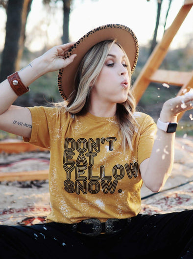 Don't Eat Yellow Snow | Seasonal T-Shirt | Ruby's Rubbish®