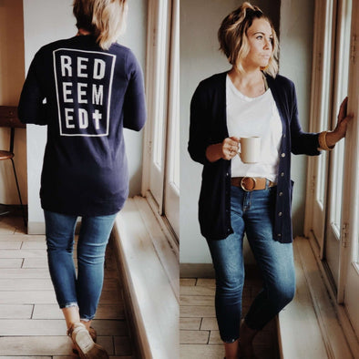 Redeemed | Women's Cardigan | Ruby's Rubbish®