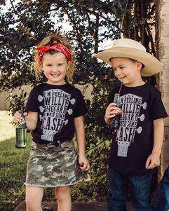 Willie, Haggard & Cash | Kid's T-Shirt | Ruby's Rubbish®