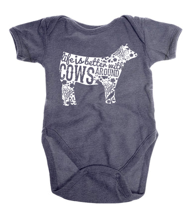Life is Better with Cows Around | Infant Onesie | Ruby's Rubbish®