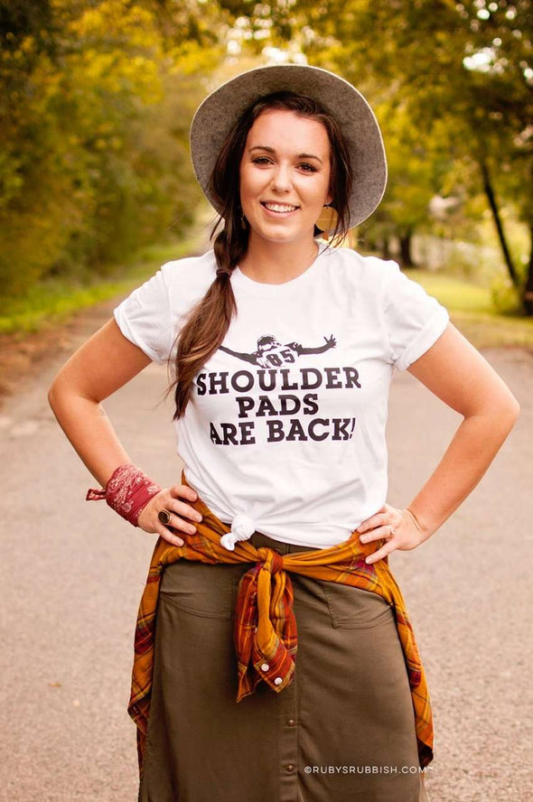 Shoulder Pads are Back | Game Day T-Shirt | Ruby's Rubbish®