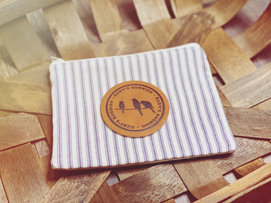Ruby's Rubbish Patch | Stripe Cosmetic Bag | Ruby's Rubbish®