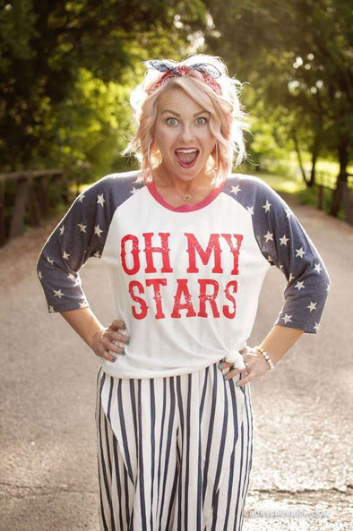 Oh My Stars | Seasonal Raglan | Ruby's Rubbish®