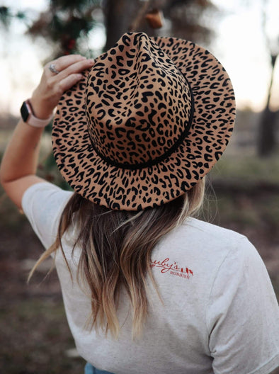Leopard Fedora | Felt Hat | Ruby's Rubbish®