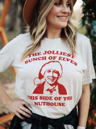 Jolliest Bunch of Elves | Seasonal T-Shirt | Ruby's Rubbish®