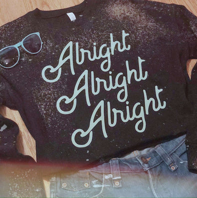 Alright Alright Alright | Women's Crop Sweatshirt | Ruby's Rubbish®