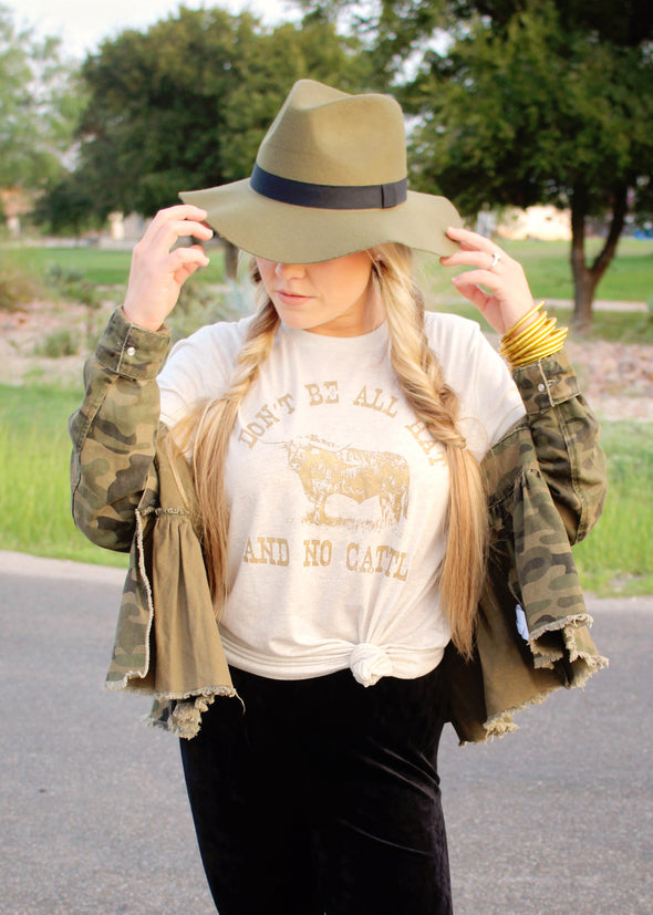 Don't Be All Hat & No Cattle | Southern T-Shirt | Ruby's Rubbish®