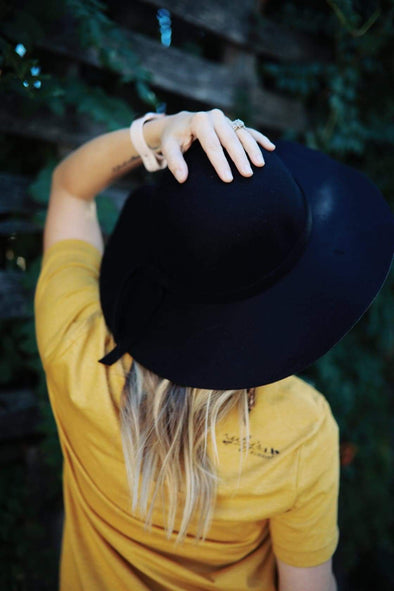 Black Floppy | Felt Hat | Ruby's Rubbish®