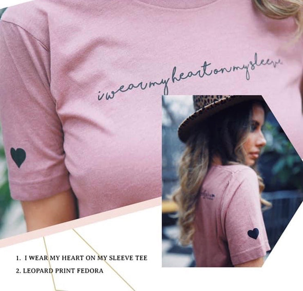 I Wear My Heart on My Sleeve | Women's T-Shirt | Ruby's Rubbish®