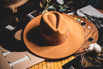 Wide Brim Camel | Fashion Hat | Ruby's Rubbish®