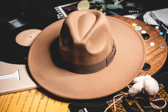 Wide Brim Dark Taupe | Fashion Hat | Ruby's Rubbish®